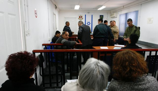 A military Tribunal at the Camp Ofer prison near Ramallah