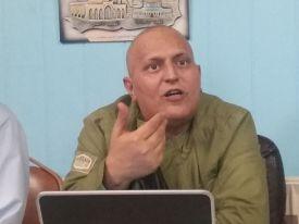 Khaled Barakat, the coordinator of the Campign to Free Ahmad Sa'adat