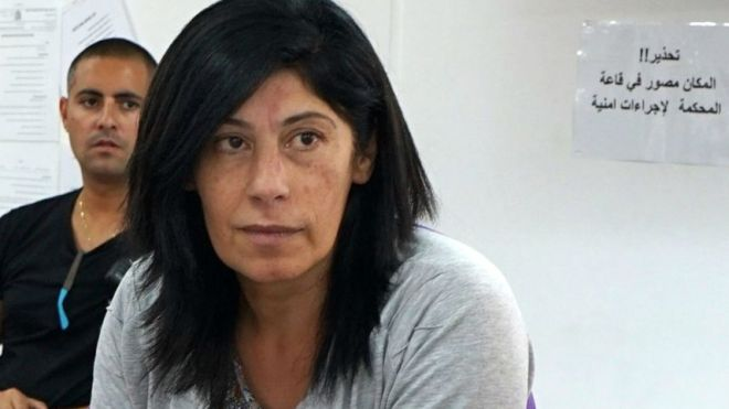 Palestinian Legislative Council member Khalida Jarrar in Ofer military court, May 2015.Alex Levac