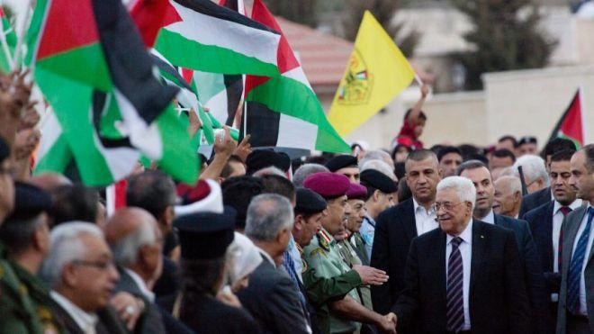 Palestinian President Mahmoud Abbas in Ramallah, October 2, 2015.AP