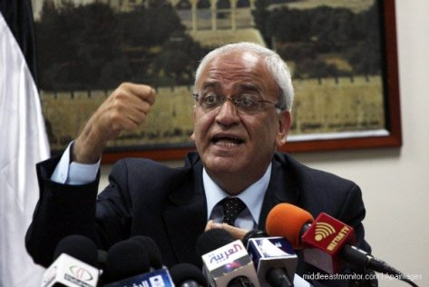 Chief Palestinian negotiator, Saeb Erekat